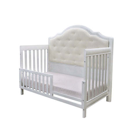 Image of Crib - Pali Cristallo Forever Convertible Crib (Gray Vinyl Panel)
