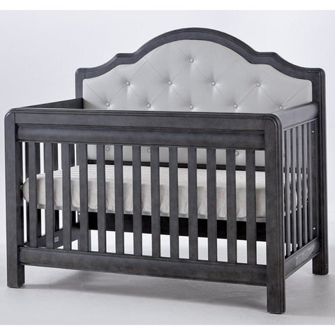 Crib - Pali Cristallo Forever Convertible Crib (Gray Vinyl Panel)