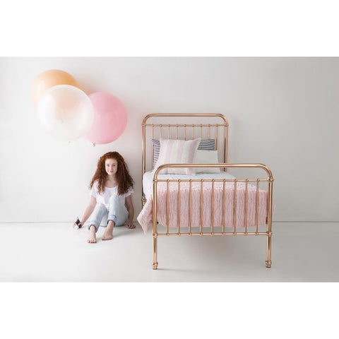 Incy Interiors Eden Twin Bed in Rose Gold