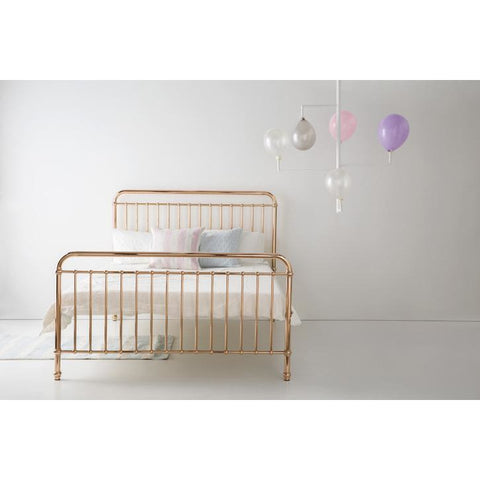 Incy Interiors Eden Queen Bed in Rose Gold