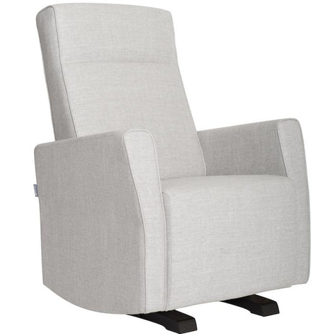 Image of Glider - Dutailier Fogo Swivel Glider In Light Gray + Matching Ottoman