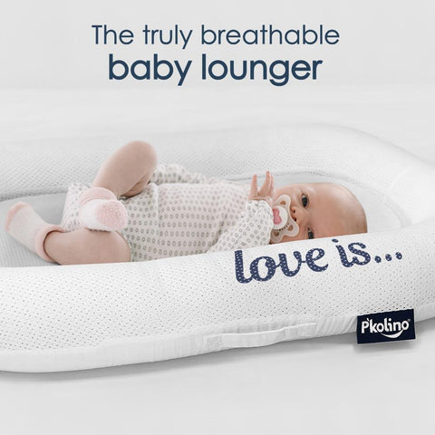 Image of Lounger - P'kolino Nuzzle Baby Lounger With Airatex