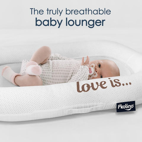 Lounger - P'kolino Nuzzle Baby Lounger With Airatex - Love Is