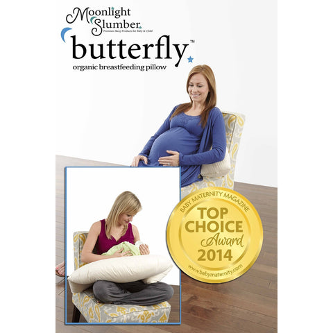 Image of Pillow - Moonlight Slumber Butterfly Breastfeeding Pillow