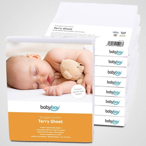 Sheets - Babybay Snuggle Comfort Terry Sheet