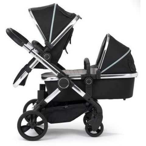 Stroller - ICandy Peach Blossom Double Stroller In Chrome/Beluga
