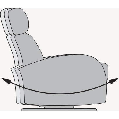 Image of Dutailier Lula Swivel Glider With Integrated Footrest