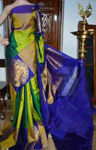 Fashionable Green Color Soft Silk Designer Sarees FN930