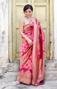 Eventual Hot Pink Color Soft Silk Designer Saree DL9011
