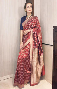 Charismatic maroon Color Soft Silk Designer Saree DL9019