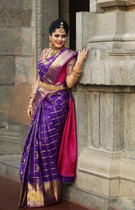 Evergreen purple Color Soft Silk Designer Saree DL9028
