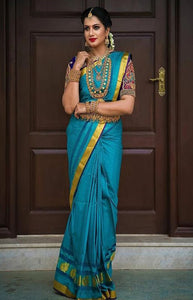 Magnificant Blue Color Soft Silk Designer Saree DL9029