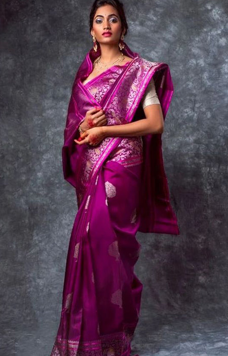 Vigorous Hot Pink Color Soft Silk Designer Saree DL9030