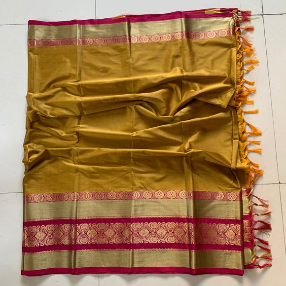 Admirable Gold Color Cotton Silk Saree Roshani-01