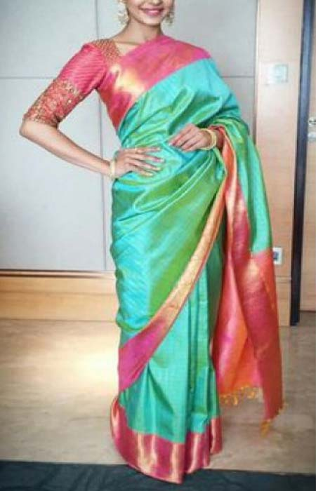 Delightful Green Color Designer Soft Silk Saree SC3163