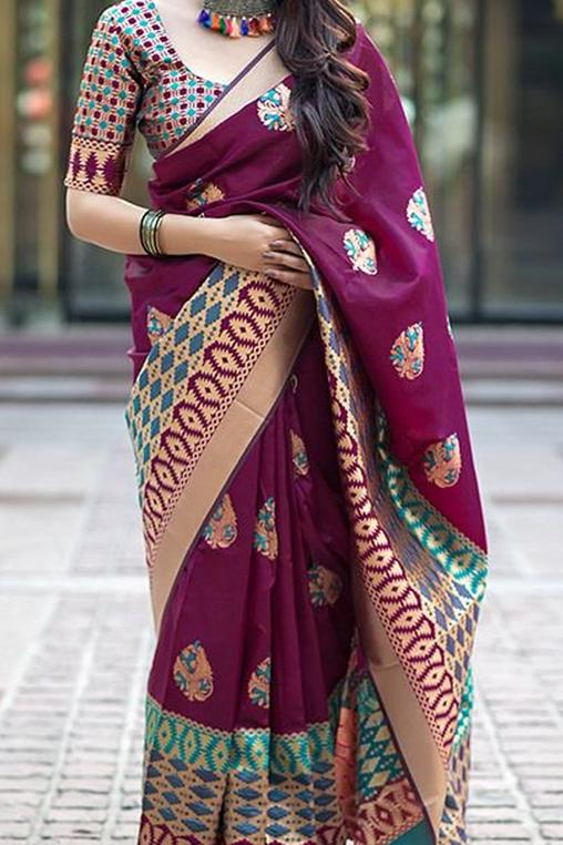 Prominent Hot Pink Color Soft Silk Designer Sarees SC7043