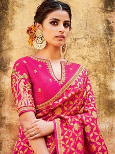 Radient Pink Color Soft Silk Designer Saree SC-9228