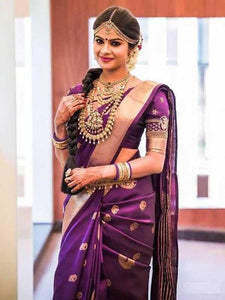 Adorning Purple Color Soft Silk Designer Saree SC-9239