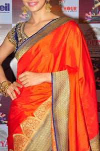 Elegant Orange Color Soft Silk Designer Saree SC-9246