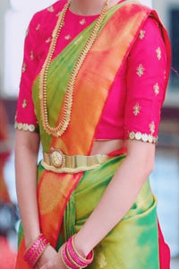 Fanciful Green Color Soft Silk Designer Saree SC-9247