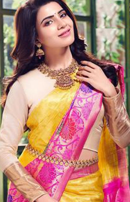 Delicate Yellow and Pink Color Soft Silk Designer Saree SC9250