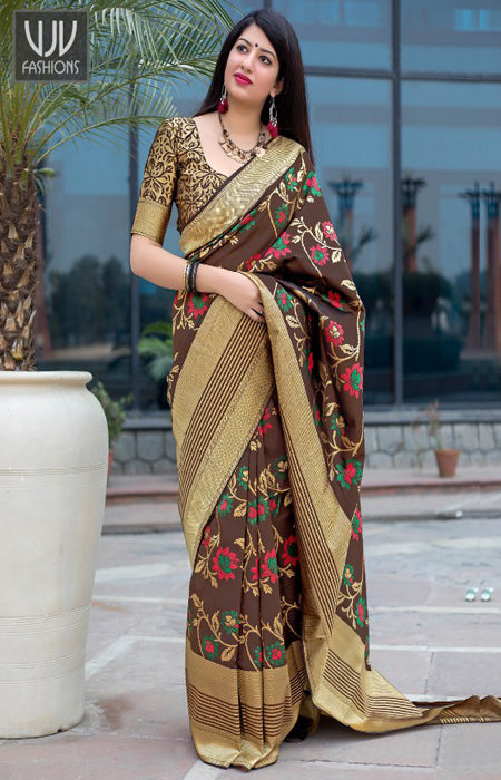 Eventual Multi Color Soft Silk Designer Sarees SC1212