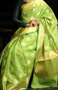 Sensational Green Color Soft Silk Designer Sarees SC1263