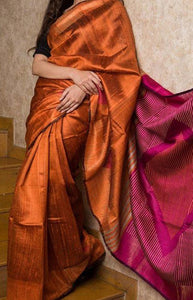 Amazing Brown Color Soft Silk Designer Sarees SC1264