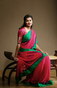 Embodied Red and Green Color Soft Silk Designer Sarees SC1270