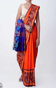 Blooming Red and Blue Color Linen Designer Digital Print Saree LN8302