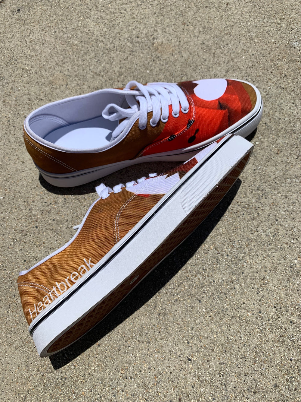 "Custom Low-top casual ""Heartbreak"" Shoes"
