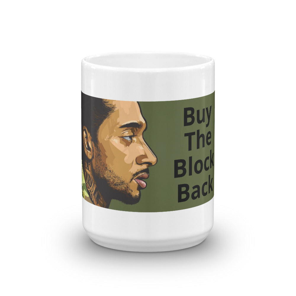 Buy The Block Back White Glossy Mug