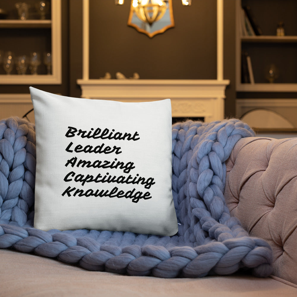""" BLACK"" All-Over Print Premium Pillow"