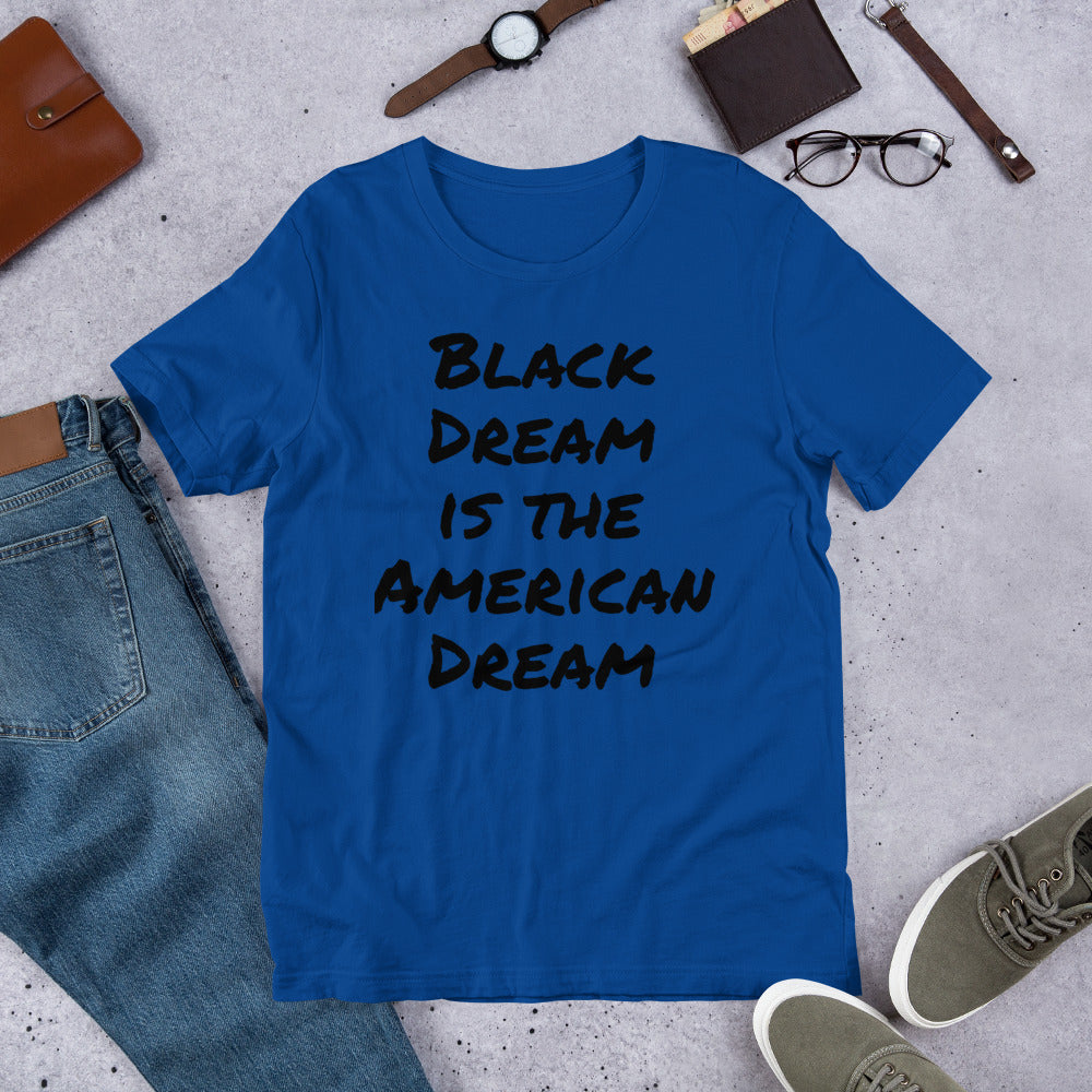Black Dream Unisex Short Sleeve Jersey T-Shirt with Tear Away Label