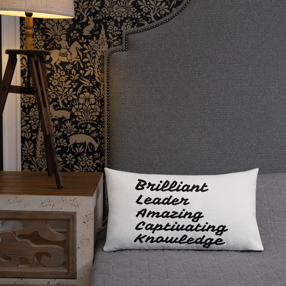 """ BLACK"" All-Over Print Premium Pillow Case w/ stuffing"