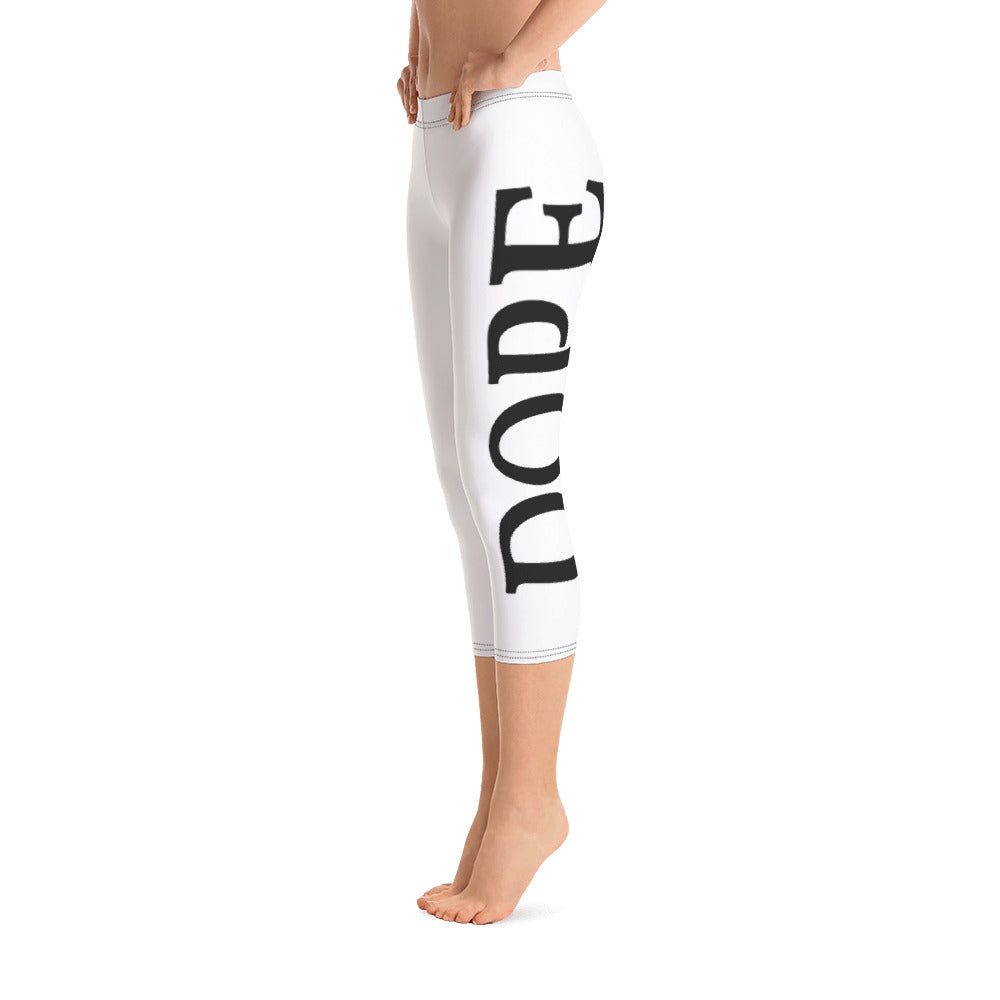 """DOPE"" Capri Leggings"