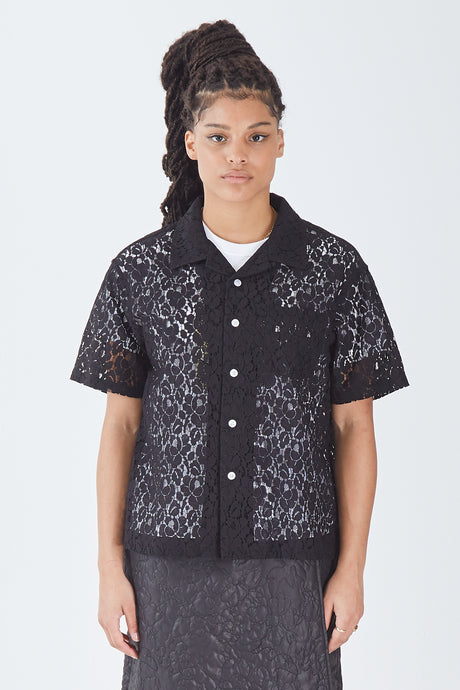 Floral Pattern Lace Shirt