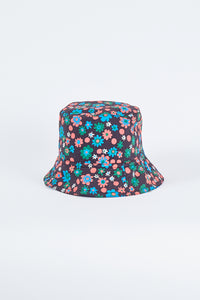 Reversible Flowered Bucket Hat