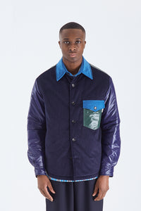 Quilted Corduroy Overshirt