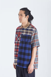 Flannel Plaid Mix Shirt