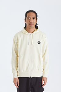 Mens Zip Hooded Sweatshirt . Black Heart