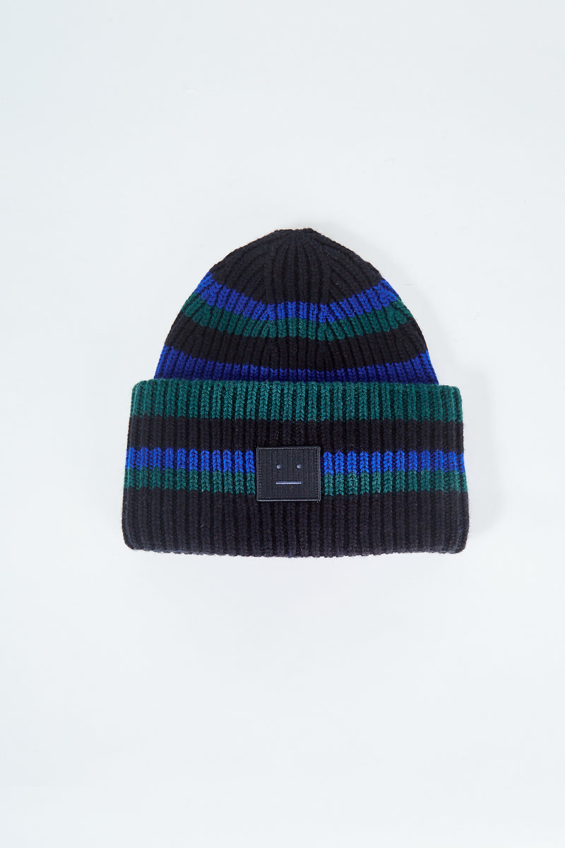 Pansy Stripe Face Beanie