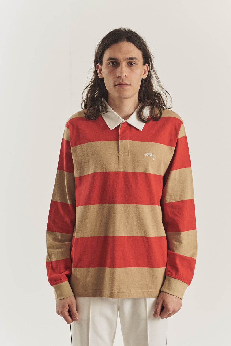 Ralphie striped LS Rugby polo