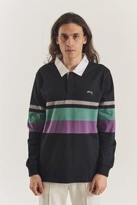 Lucas striped LS Rugby polo