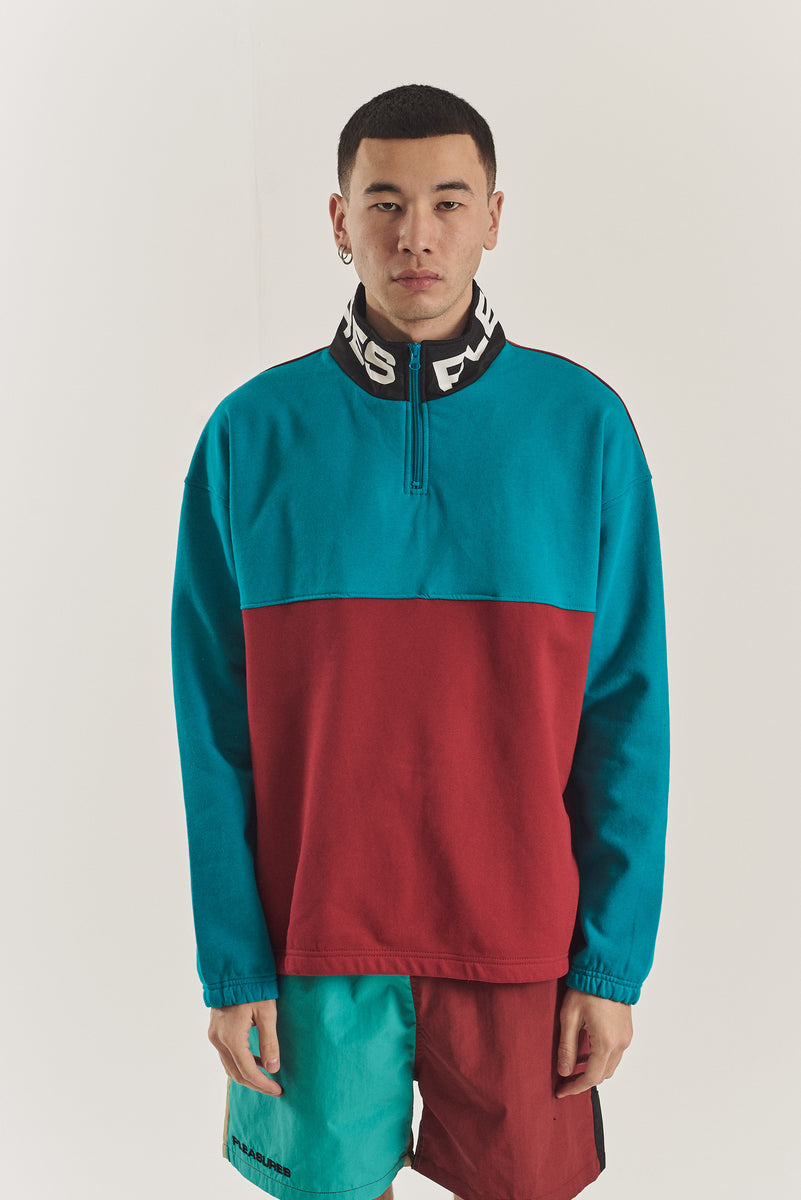 Misfit color block half-zip
