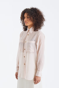 Wool Recycle Polyester Sheer Cloth Shirt