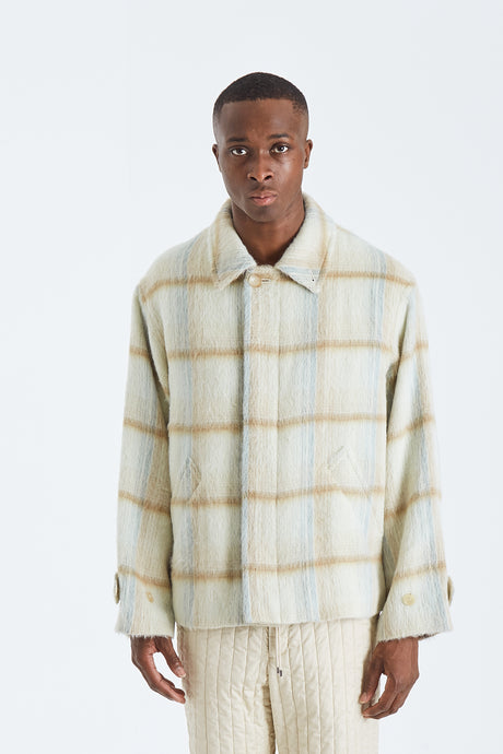 Alpaca Heavy Brushed Check Blouson