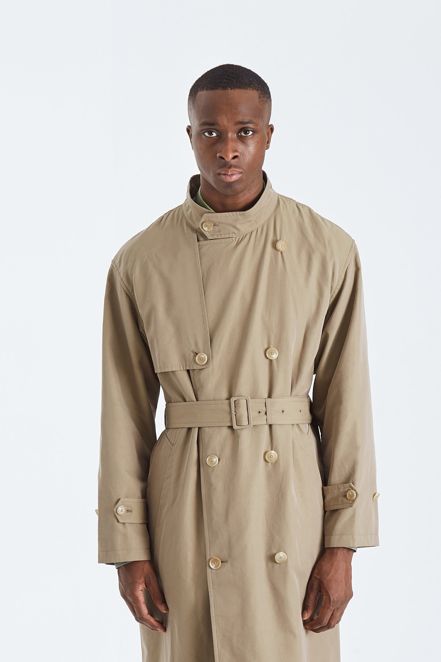 Finx Cupro Twill Long Coat