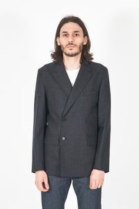 Double Breasted Wool Suit Jacket