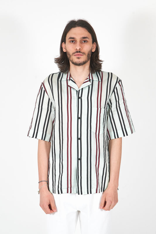 Striped Cotton Blend Shirt